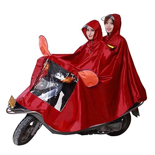 L.BAN Rain Cape Coat, universeller wasserdichter Regenmantel mit Kapuze für Kinder mit Mobilität, Sicherheitsmotorrad Motorräder Fahrrad Erhöhen Sie den verdickenden Wasserdichten Poncho