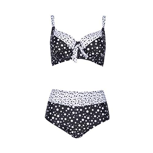 WZHZJ Talla Grande PUSHE UP Bikini PRINTIMIENTO DE Mujeres Rayas Split Bañador Beachwear Biquini Swimwear Mujeres más tamaño (Size : XX-Large)