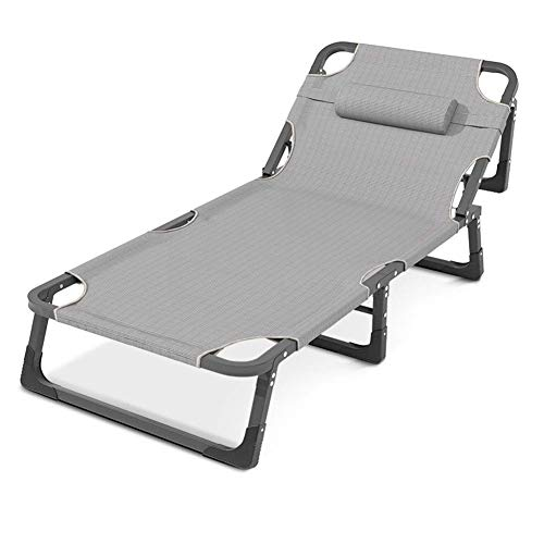 Metal Sun Lounger, Multifunctional Folding Sunbed Outdoor Garden Furniture 190 70 30Cm,Static Load, Rust-Resistant, with Breathable Synthetic Fabric, Backrest 4 Position Adjustment