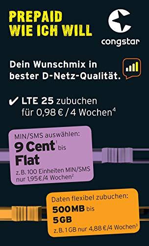 Congstar Starterpaket Wunsch-Mix - 10 startgut, bezug nur mit gültiger - Ei - Aufladeprämie und Provisionsübersicht