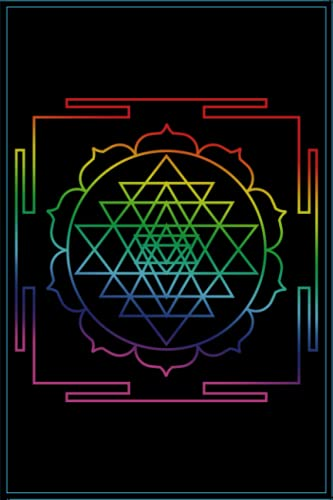 Sri Yatra Rainbow Sacred Geometry Journal: 6' x 9' Dotted Grid Blank. Notebook, Sketchbook, or Diary, 120 pages