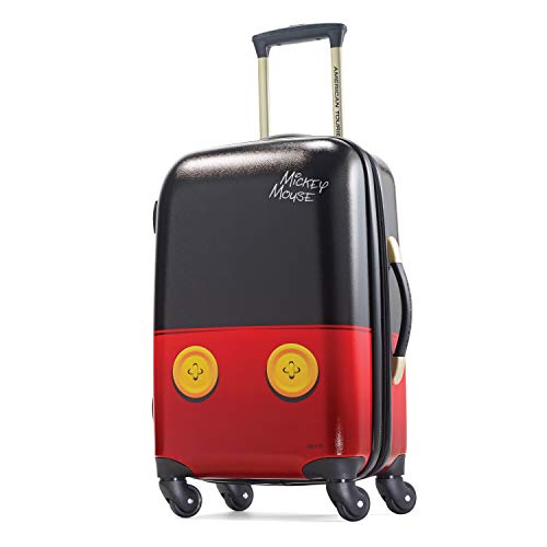 American Tourister Disney Hardside Luggage with Spinner Wheels, Mickey Mouse Pants, Carry-On 21-Inch