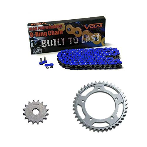 Volar O-Ring Chain and Sprocket Kit - Blue for 2003-2005 Yamaha YZF R6