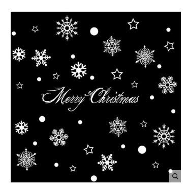 Wandtattoos Weihnachten Glas Aufkleber Aufkleber Layout Verkleiden Sich Fenster Und Türen Decals Transparent Art Vinyl Wall