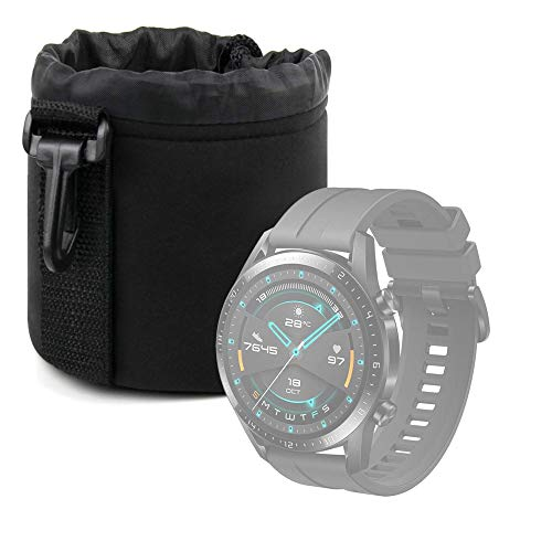 DURAGADGET Bolsa Negra Compatible con Smartwatch Huawei Watch GT 2 Sport, Garmin Fenix ??6S Pro, Emporio Armani ART5007 - Ligero para Transportar