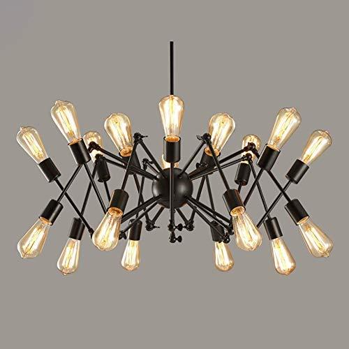 Yangqing Lampe, lange alte Kronleuchter LED Deckenleuchte Deckenleuchte Spinne Licht E27 Sockel Kronleuchter Nordic Post-Modern Fashion Industrie Beleuchtung Kronleuchter Drache Spinne Kronleuchter