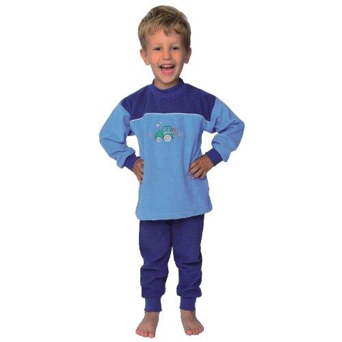 'Mauz Pyjama bébé/Enfant Tracteur Bleu Clair éponge - Bleu - 3 Ans