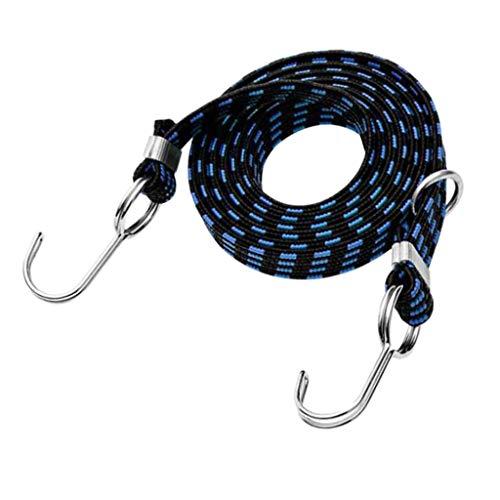 perfeclan Tendeur Élastique Universels avec Crochets Extra Résistants Ceintures de Corde Suspendue de Bagage 100-400cm - Bleu, 4M