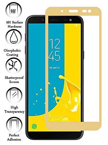 Todotumovil Protector de Pantalla Samsung Galaxy J6 2018 Color Dorado Completo 3D Cristal Templado Vidrio Curvo para movil