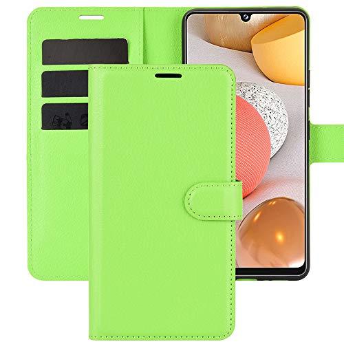 Capa carteira XYX para Moto Z4, Moto Z4 Play de cor lisa com padrão Litchi capa protetora de couro PU para Motorola Moto Z4 Play/Moto Z4 - Verde