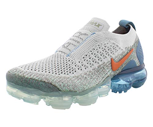 Nike Air Vapormax Flyknit Moc 2 Womens Shoes Size 5, Color: Light Silver/Campfire Orange