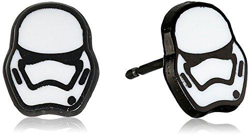 Star Wars Jewelry Pendientes unisex de acero inoxidable de Stormtrooper Episodio 7.