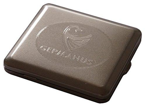 GERMANUS Zigarettenetui, Made in Germany, vernickelt, satiniert matt