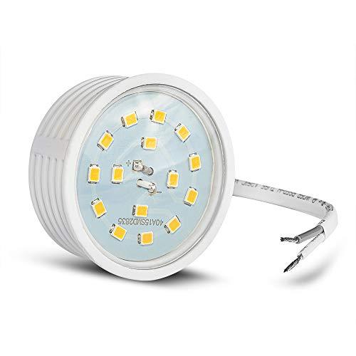 Ultra flaches LED Modul für Einbaustrahler Deckenspot Einbauleuchte 230Volt Leuchtmittel 400Lumen warmweiß 50mm Außendurchmesser 20mm Länge