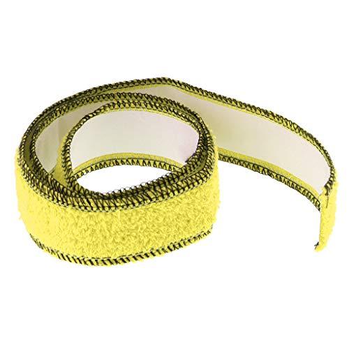 T TOOYFUL 100% Baumwolle Sportschläger Overgrips Tape Für Badminton Tennis Atmungsaktiv - Gelb