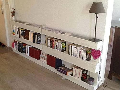 Libreria in Pallet EPAL Bianca 2 pz. cm 80x120 stile country-moderno- rustico - orizzontale /verticale