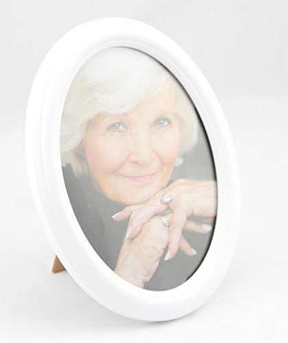 IDEAL Oval Bilderrahmen 13x18 cm 15x20 cm 20x30 cm Porträt Bilder Foto Rahmen: Farbe: Weiß | Format: 13x18