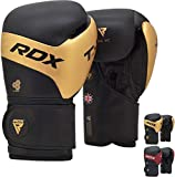 RDX Guantes de Boxeo para Muay Thai y Entrenamiento | Kalix Cuero Mitones para Sparring, Kick Boxing | Boxing Gloves para Saco Boxeo, Combate Training