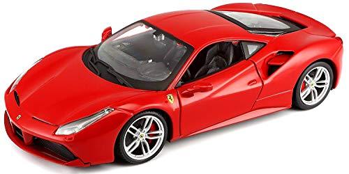 Bburago Maisto France - 26013 - Ferrari 488 GTB - Véhicule Miniature - Échelle 1/24 - Couleur aléatoire