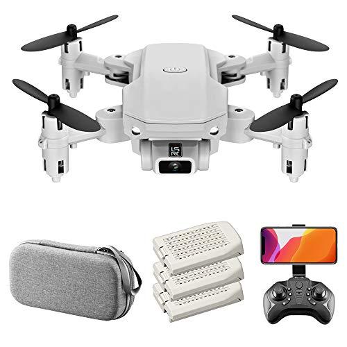 GoolRC LS-MIN Mini Drone con cámara 4K RC Quadcopter 13mins Tiempo de Vuelo 360 ° Flip Gesto Foto Video Pista Vuelo Altitud Control de Retención Remoto sin Cabeza Drone para Niños Adultos 3 Batería