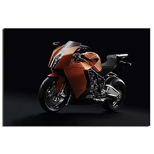 IGZAKER KTM 1190 RC8 Super Motorbike Poster Impresión de Tela en Lienzo para decoración del hogar Arte de la Pared Póster Pintura Impresa en Lienzo Envuelto / 50x75cm (sin Marco)
