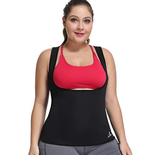 Joyshaper Hot Sweat Sauna Suit gilet per la perdita di peso da donna in neoprene, corsetto dimagrante sudore, gilet per allenamento in vita Nero M