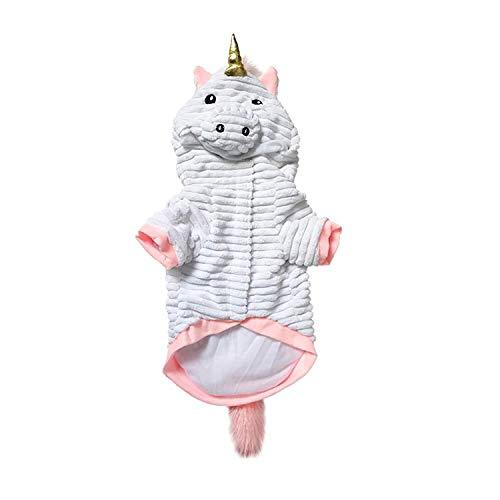 Moda Creativas Y Linda Navidad del Perro De La Ropa del Perro, Ropa De Navidad De Halloween del Unicornio del Perro Casero De Vestir, Perrito del Traje (Size : Small)
