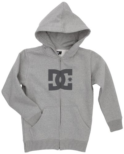 DC Shoes Jungen Screenline Sweatjacke Star ZH, heather grey, L, DRBSW032-HTRD