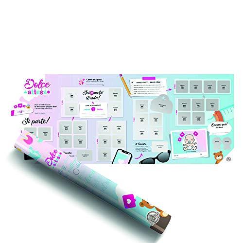 Benbridge - Calendario de embarazo, de Scratch Dolce Attesa, fabricado en Italia, idea de regalo para embarazadas