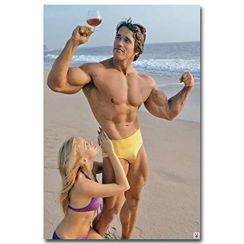 QAZEDC Dekorative Malerei Bodybuilding Silk Poster Fitness Wandbild Home Wohnzimmer Dekor