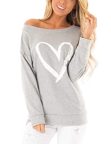 Blooming Jelly Sweter damski sweter z odsłoniętymi ramionami, górna część z długim rękawem, casual top