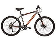 Schwinn Surge Adult Mountain Bike, 26-Inch Wheels, Mens 17-Inch Alloy Frame, 7 Speed, Disc Brakes, G...