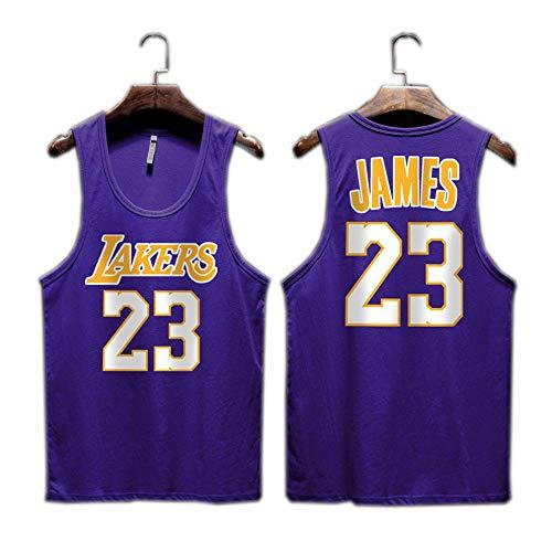 Lakers James Kobe Camiseta sin Mangas de Baloncesto de la Calle Uniforme de Entrenamiento Chaleco Jersey Masculino 2-S