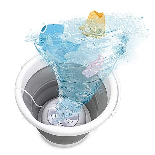 Mini lavatrice JUNDA, vasca per lavanderia pieghevole portatile, lavatrice a turbina ad ultrasuoni con alimentazione USB, lavatrice per neonati per appartamenti da viaggio dormitori calzini intimo