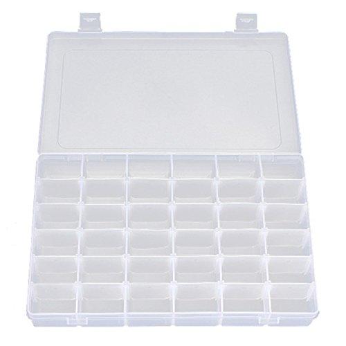 portagioie trasparente Rosenice Casella di Organizer Jewelry portatile con divisori rimovibili 36-griglia trasparente duro plastica custodia contenitore