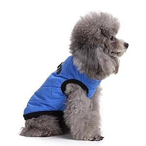 Zunea Harnais veste chaude rembourrée et moelleuse en coton pour chiens de petite taille et chiots, vêtement pour chihuahua.