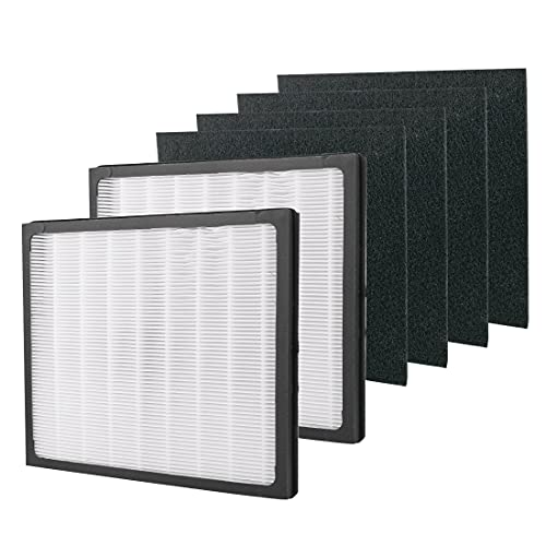 IAF-H-100D Air Purifier Filter D Compatible with Idylis IAP-10-280, 1AP-10-280, AC-2118, AC-2123 - Includes 2 HEPA Filters & 4 Carbon Filters