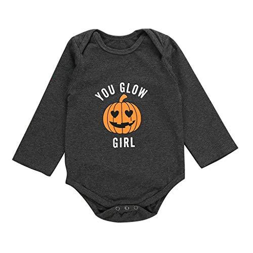 Baby Meisjes Jongen Herfst Winter Lange Mouw Pompoen Print Halloween Romper - Katoen Bodysuit Kleding - Kid Halloween Kostuum