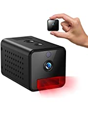 IHOUMI Telecamere nascoste, 1080P Mini Telecamera Wi-Fi Interno,Telecamera Auto atti con Visione Notturna, rilevamento del Movimento, Audio bidirezionale,con modalità AP (Non è richiesto WiFi)