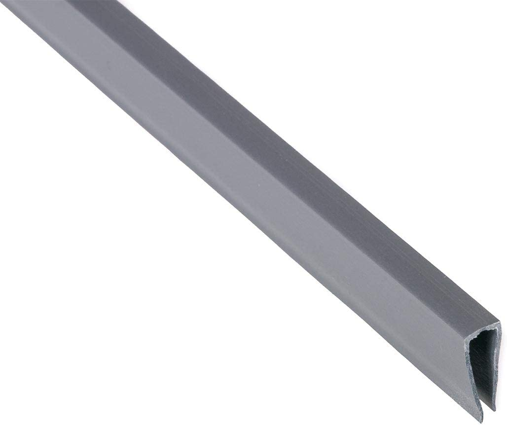 bambus discount.com Abschlusskante U Profil, Länge 8cm, für Sylt und  Rügen,Aluminium/Silber
