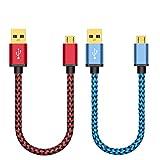 Micro USB Kabel, BeneStellar[Rot&Blau 30cm*2]2,4A[USB