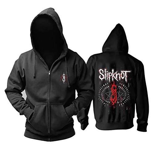 GEOOG Slipknot Memorial Hoodie Unisex Mit Kapuze Beiläufige Runde Ausschnitt Langarm Pullover Hip Hop Sweatshirt Pullover Winter Warme Jacke Tops,XXXL