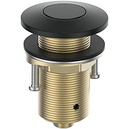 KANARY ALL Brass Air Switch Button for Sink Top Counter Top Garbage Disposal Part (Round, Matte Black)