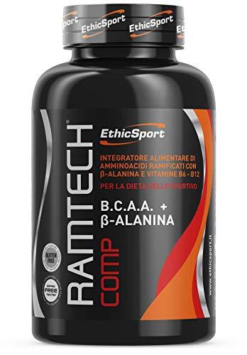 EthicSport - Ramtech Comp - Barattolo da 360 cpr x 1300 mg - Integratore alimentare di amminoacidi ramificati con β-Alanina e vitamine B6-B12