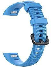 Jackallo Siliconen Horloge Bandjes voor Mannen en Vrouwen Zachte Siliconen Polsband Vervanging Horlogeband Armband voor Huawei Band 3 Pro en Band 4 Pro