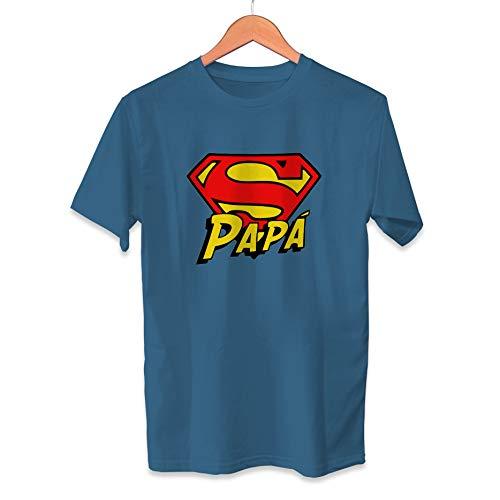 Camiseta Super Papá Dia del Padre Superman - Unisex Tallas Adultas e Infantiles - Frase motivadora - Regalo Original para Papá Cumpleaños