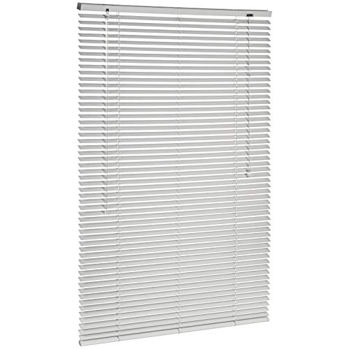 AmazonBasics - Persiana veneciana de aluminio, 90 x 130 cm, Plateado