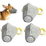 3 Pezzi Museruole per Animali Domestici, Regolabile Museruole Protettiva Antipolvere Traspirante per Cani in Cotone Morbido Traspirante PM2.5,L
