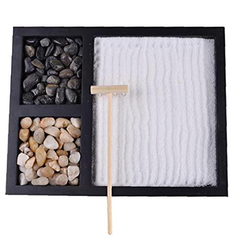 DierCosy Tools Zen Mesa de Arena Decoración Zen Mini Mesa de Resina Artesanal Adornos de jardín Accesorios decoración del jardín