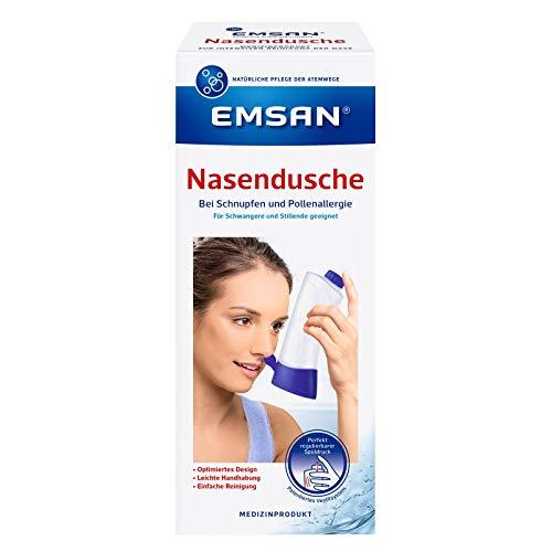 Emsan Nasendusche mit 10 Beuteln Nasenspülsalz